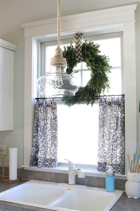 bathroom valances ideas no sew cafe curtains diy crafts cafe