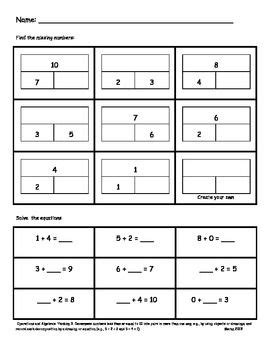Part Part Whole Assessments Or Worksheets  Teaching Ideas  Math, Part Part Whole, Worksheets