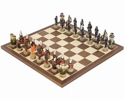 Chess Themed Samurai Italfama Painted Hand Sets