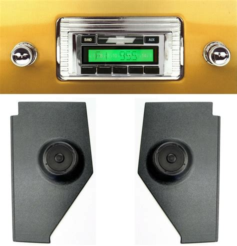 chevy truck radio kick panels  speakers aux cable stereo  ebay