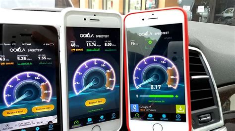 Iphone 6 Speed Test At T Sprint T Mobile Verizon Doovi
