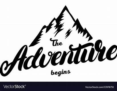 Adventure Begins Clipart Written Clip Hand Lettering