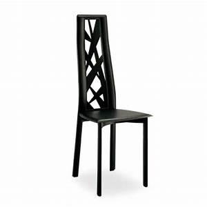 chaise de salle a manger en croute de cuir cathy 4 With salle À manger contemporaineavec chaise cuir couleur