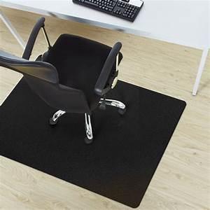 tapis protege sol noir protection sol dur bureau 3 With tapis sous bureau