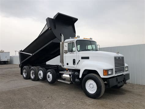 ch  axle rock bed dump truck dogface heavy equipment sales