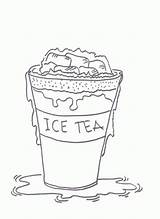 Tea Coloring Pages Iced Ice Drawing Sheets Drink Printable Sheet Crocodile Sketch Happy Paintingvalley sketch template