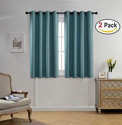 Curtains Teal Blackout Darkening Window Bedroom Grommet