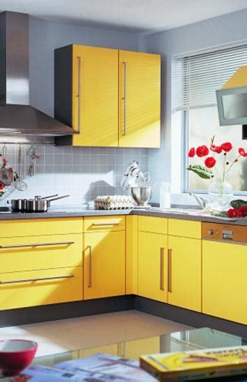 Small Kitchen Design In Yellow Blue Shades by Small Kitchen Remodeling Ideas Accentuated With