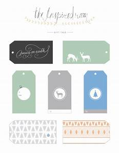 fun christmas gift tags free printables the inspired room With free printable customizable gift tags