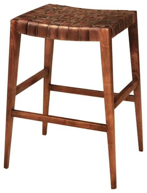 countertop stools 24 quot max leather woven countertop stool traditional bar