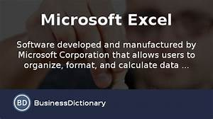 What Is Microsoft Excel  Definition And Meaning