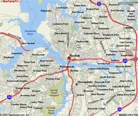 Norfolk Virginia Beach VA Map