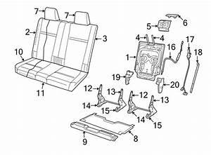 Dodge Journey Seat Back Cover  Third Seat  Cloth Trim D5