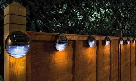 lights for fence set of four solar fence lights from 12 99 in solar