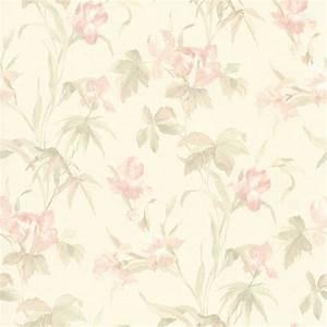 414-65782 Light Pink Iris Floral - Iris - Brewster Wallpaper