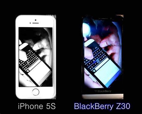 blackberry z30 vs iphone 5s test comparison