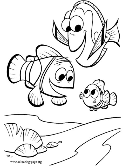 finding nemo marlin dory  nemo coloring page