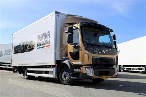 volvo fl delivery truck editorial stock photo image
