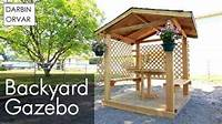 building a gazebo DIY Gazebo Build Part 2 - YouTube