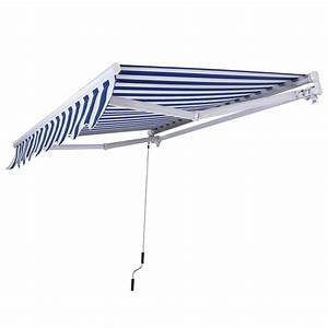 Costway Manual Sun Shade 10 Ft  W  U00d7 8 Ft  D Retractable