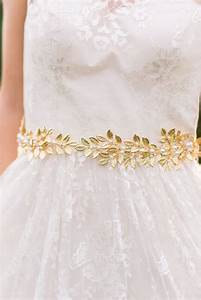 Gold leaf belt bridal belt gold bridal belt gold sash bridal for Gold belt for wedding dress