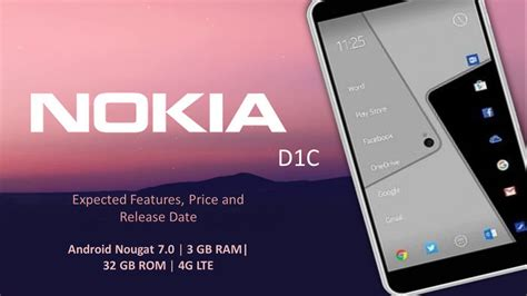 upcoming nokia d1c price release date and features