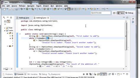 user interface input data validation java swing video
