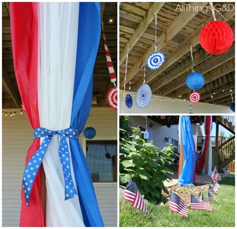 4th of july diy decorations our 9th annual 4th of july party all things g d