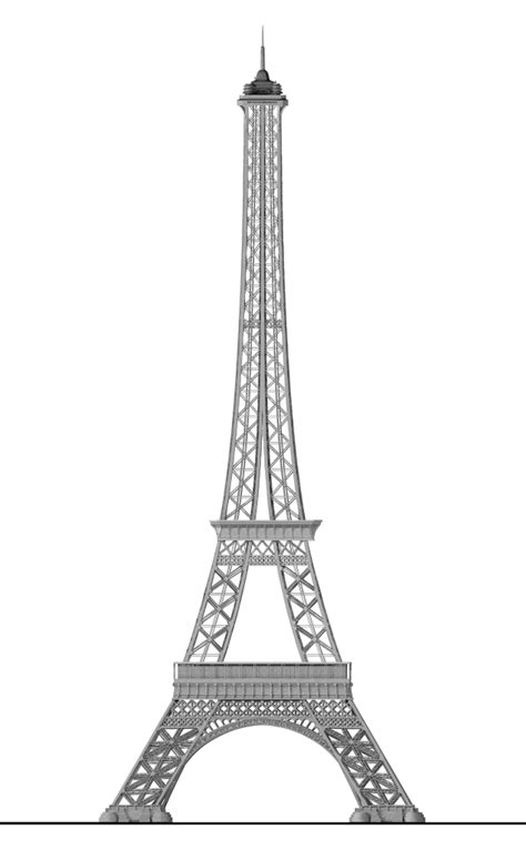 filedetailed eiffel tower svg wikimedia commons