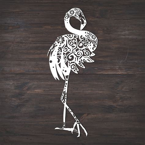 The free cut files include svg, dxf, eps and png formats. Flamingo Svg, Bird Svg, Mandala Svg (Intricate Weeding ...