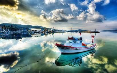 Marina Boats Turkey Desktop Ayvalık Sea Wallpapers