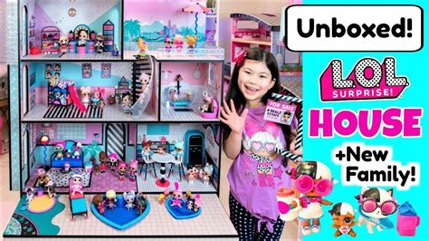 lol surprise doll house full unboxing house
