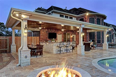 Great Backyard Patios by Friendswood Outdoor Living Space Custom Patios