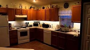 LED Lighting Under Cabinet Lighting Kitchen DIY - YouTube