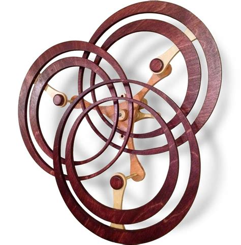 annulation kinetic wooden sculpture plans  boy pinterest woodworking cnc projects