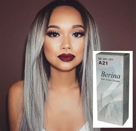 Is Platinum A Hair Color by Hair Color Gray Light Permanent Dye Berina No A21