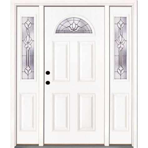 feather river doors 63 5 in x 81 625 in medina zinc fan