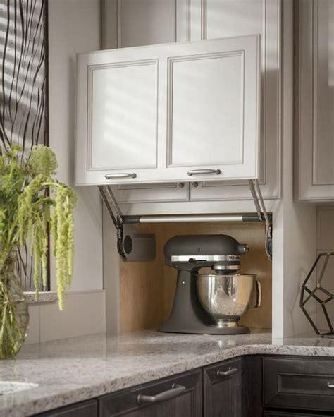 corner kitchen cabinet appliance garage counter wall with vertical lift door appliance garage