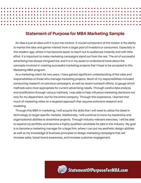 Mba Marketing by Statement Of Purpose For Mba Marketing Writing Service