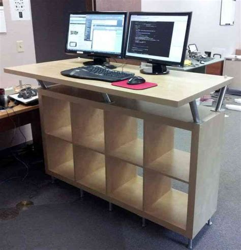 standing desk with storage standing computer desk ikea decor ideasdecor ideas