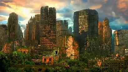 Sci Fi Futuristic Urban Cities Decay Ruin