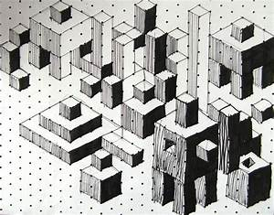 landscape with isometric graph paper. LOVE this!! | HS art ...