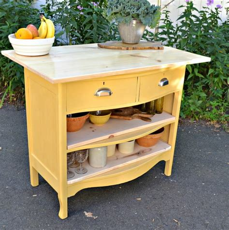 repurposed dresser kitchen island 8 reasons and 28 exles to use vintage dressers in your 4770