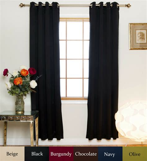 120 Inch Drapes - nickel grommet top insulated blackout curtain 120 inch