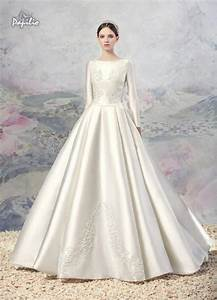 vintage lace a line wedding dresses 2016 winter fall noble With long sleeve a line wedding dress