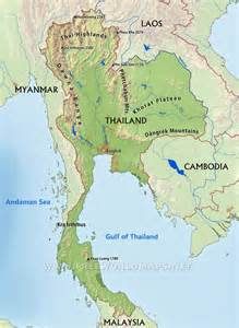 Thailand Physical Features Map