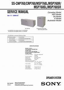 Sony Ssmsp760r Service Manual
