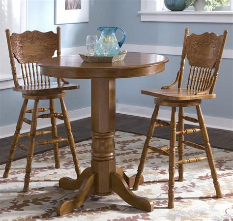 Pressback Chairs And Table by 3 Pub Table Dining Set By Liberty Furniture