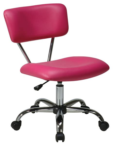 vista task chair pink desk swivel office chair chrome