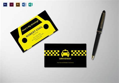 modern taxi business card templates  psd